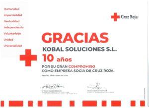Cruz Roja premia a Kobal Soluciones